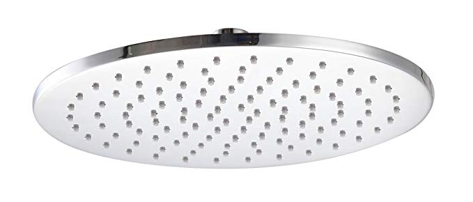 Kelica 10 inch Solid Brass Round Fixed Rainfall Shower Head Chrome