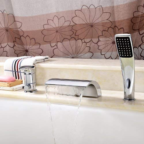 Sprinkle Brass vessel sink tub basin Faucet with Hand Shower Waterfall- Chrome Finish