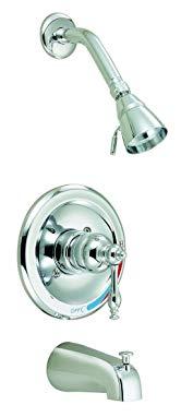 Design House 528075 Saratoga Tub and Shower Faucet, Polished Chrome