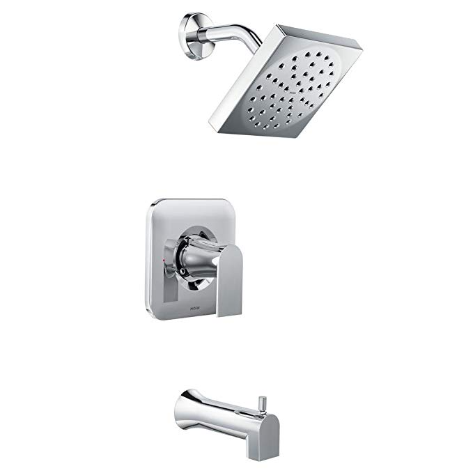 MOEN Genta Single-Handle 1-Spray Tub and Shower Faucet in Chrome