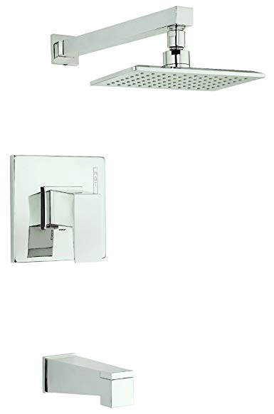 Danze D502062PNVT Mid-Town Single Handle Tub and Shower Trim Kit, 2.0 GPM, Valve Not Included, Polished Nickel PNV