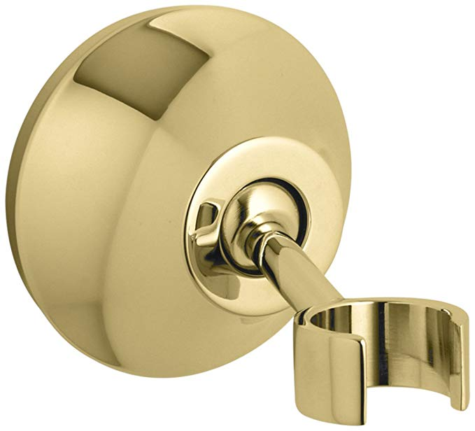 Kohler K-352-PB Forte Adjustable Wall-Mount Bracket, Vibrant Polished Brass