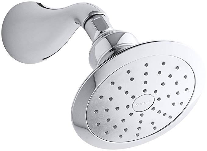 KOHLER 45411-CP Revival Single Function Wall Mount Showerhead with Katalyst Air Induction Spray, 2.0 GPM, Polished Chrome